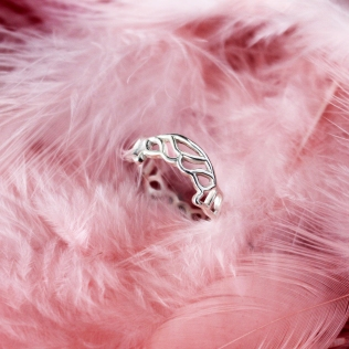 sterling silver delicate ajoure ring